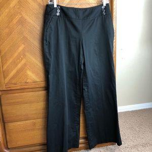White House Black Market Black Sailor Pants 14